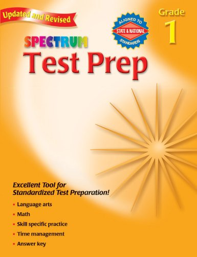 9780769681214: Test Prep, Grade 1 (Spectrum)