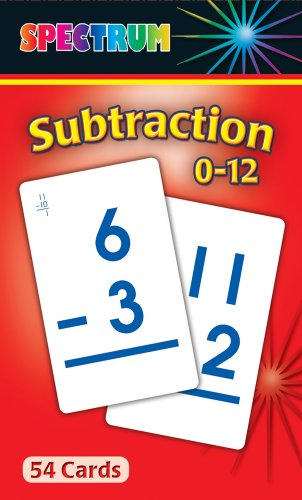 9780769681412: Subtraction 0-12 Flash Cards
