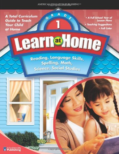 9780769683713: Learn at Home, Grade 1: Reading, Language Skills, Spelling, Math, Science, Social Studies