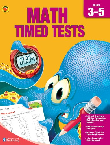 9780769685038: Brighter Child Book of Math Timed Tests, Grades 3-5 (Complete Book of)