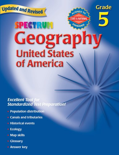 9780769687254: Geography, Grade 5: The United States of America (Spectrum)