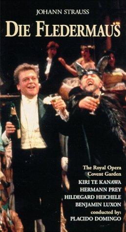 9780769720302: Johann Strauss - Die Fledermaus / Domingo, Te Kanawa, Prey, Royal Opera Covent Garden [VHS]