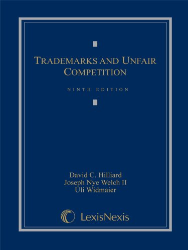 9780769847627: Trademarks and Unfair Competition