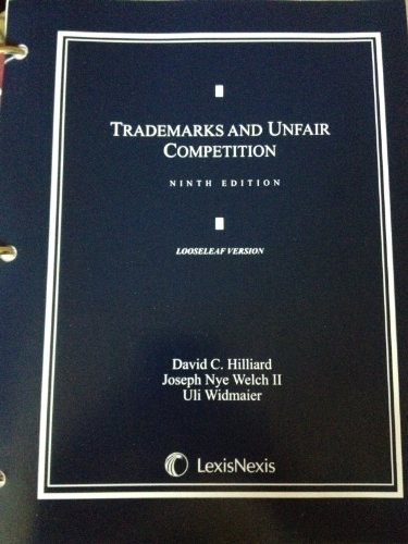 9780769847634: Trademarks and Unfair Competition (2012 Loose-leaf Version)