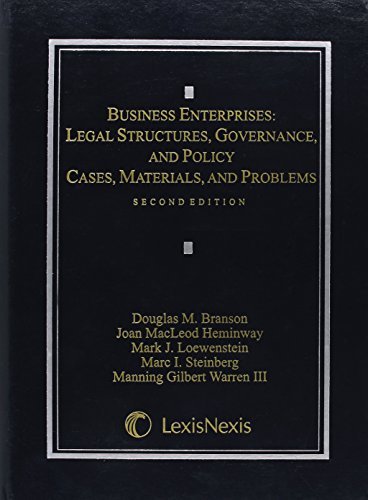 9780769849058: Business Enterprises: Legal Structures, Governance, and Policy