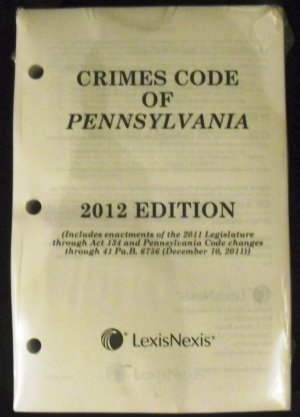 9780769850030: Crimes Code of Pennsylvania
