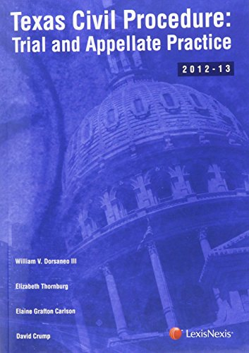 9780769852911: Texas Civil Procedure: Trial and Appellate Practice