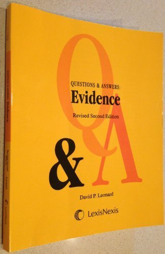 9780769854854: Questions & Answers: Evidence