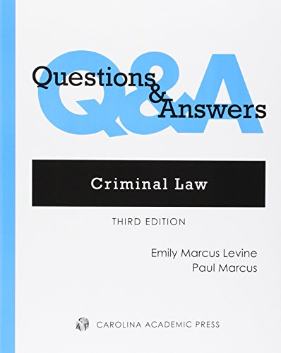 9780769857718: Questions and Answers: Criminal Law (Questions & Answers)