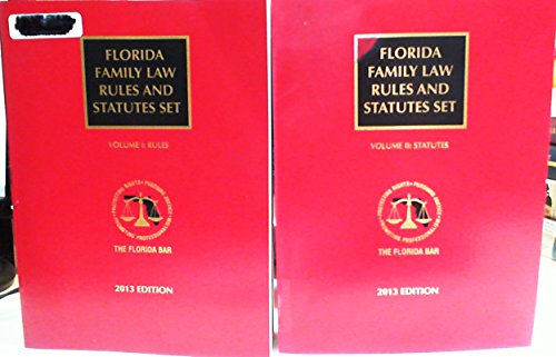 9780769858401: Florida Family Law Set: Rules, Statutes (Florida Family Law Handbook)