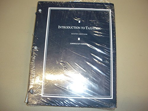 9780769881997: Introduction to Taxation (Loose-leaf version)