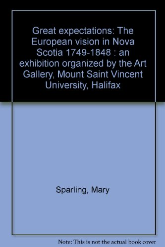 Great expectations: The European vision in Nova Scotia, 1749-1848