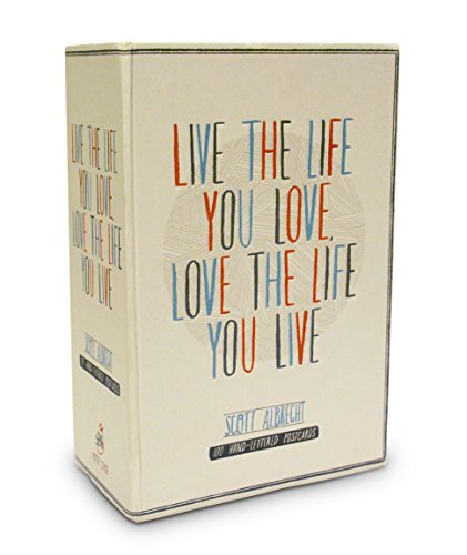 9780770433017: Live the Life You Love Postcard Box: 100 HAND-LETTERED POSTCARDS