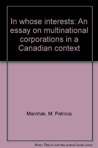 In Whose Interest (Oxford): M. Patricia Marchak