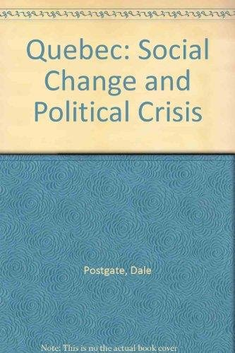 9780771055133: Quebec Social Change (Oxford)