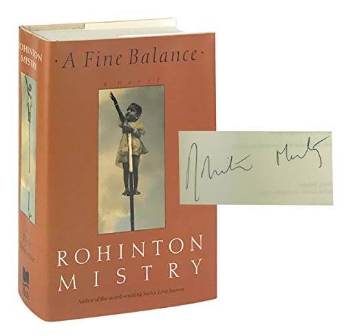 rohinton mistry a fine balance A fine balance rohinton mistry, 1995 random house 624 pp isbn-13: 9781400030651  a fine balance is not a political diatribe instead, it is a beautiful and compassionate portrait of the resiliency of the human spirit when faced with death, despair, and unconscionable suffering.