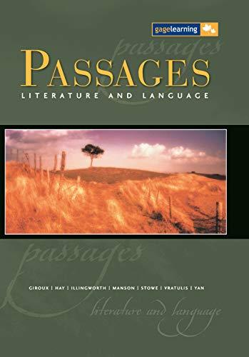 Passages 12 : Literature and Language: B