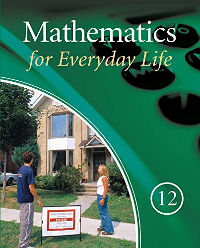 Mathematics for Everyday Life 12 Student Text
