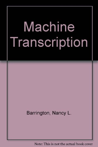 9780773043350: Machine Transcription