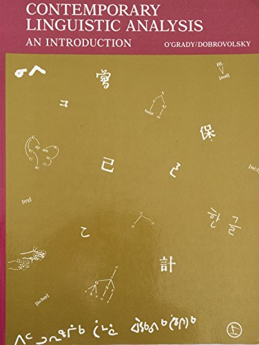 Contemporary linguistics an introduction by ogrady william abebooks contemporary linguistic analysis an introduction william d ogrady fandeluxe Images