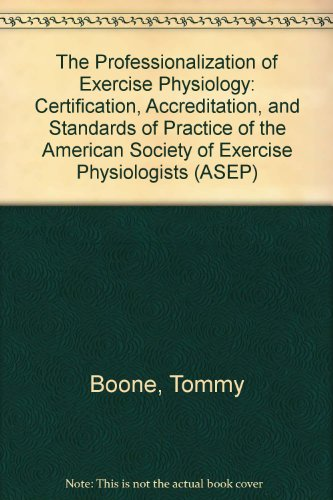 9780773448551: The Professionalization of Exercise Physiology: Insights, Challenges, Management, and Visioning Thinking : The ASEP Leadership