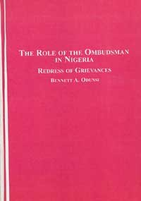 9780773453364: The Role of the Ombudsman in Nigeria: