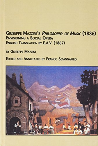 9780773464698: Philosophy of Music (1836): Envisioning a Social Opera by E.A.V. 1867 (Studies in the History & Interpretation of Music)