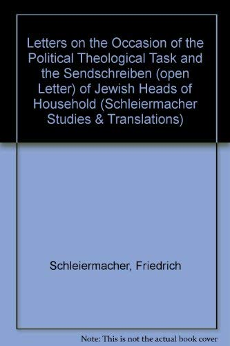Letters on the Occasion of the Political Theological Task and the Sendschreiben (Open Letter) of ...