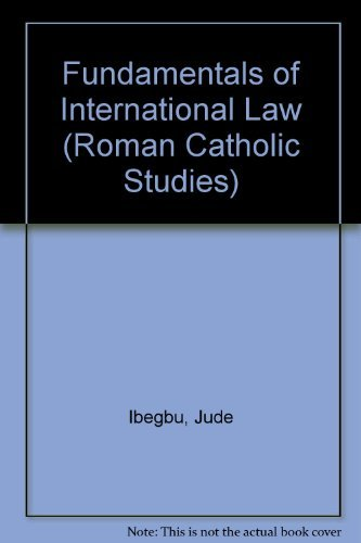9780773481756: Fundamentals of International Law (Roman Catholic Studies)