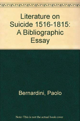9780773488090: Literature on Suicide 1516-1815: A Bibliographic Essay