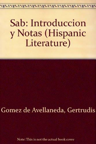 9780773493315: Sab: Introduccion y Notas (Hispanic Literature)