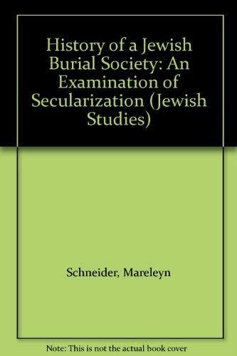 9780773499508: History of a Jewish Burial Society: An Examination of Secularization (Jewish Studies)