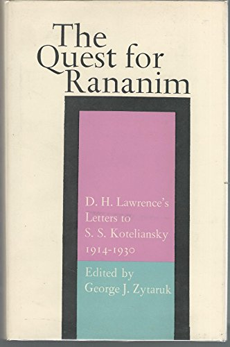 The Quest for Rananim: D. H. Lawrence's: D. H. Lawrence