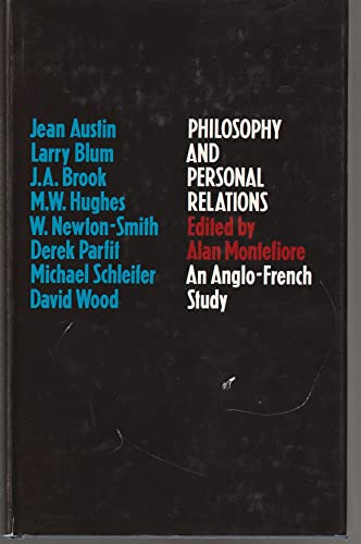 9780773501799: Philosophy and personal relations;: An Anglo-French study,