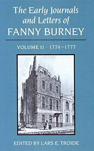 9780773505391: The Early Journals and Letters of Fanny Burney, Vol. 2: 1774-1777