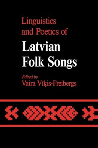 9780773506619: Linguistics and Poetics of Latvian Folksongs (McGill-Queen's Studies in the History of Religion, Series Two)
