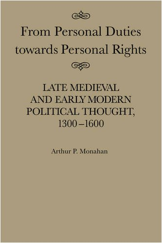 From Personal Duties towards Personal Rights. Late Medieval and Early Modern Political Thought, ...