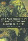 9780773517592: War and Society in Europe of the Old Regime 1618-1789 (War and European Society Series)