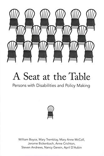 A Seat at the Table: Persons With: Boyce, Dr. William;