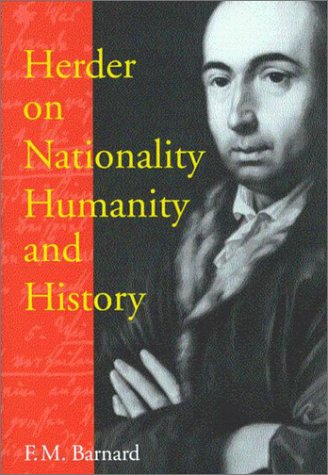 9780773525191: Herder on Nationality, Humanity, and History (McGill-Queen's Studies on the History of Ideas)
