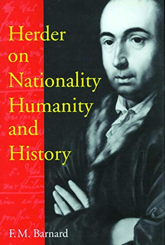 9780773525696: Herder on Nationality, Humanity, and History (McGill-Queen's Studies in the History of Ideas)