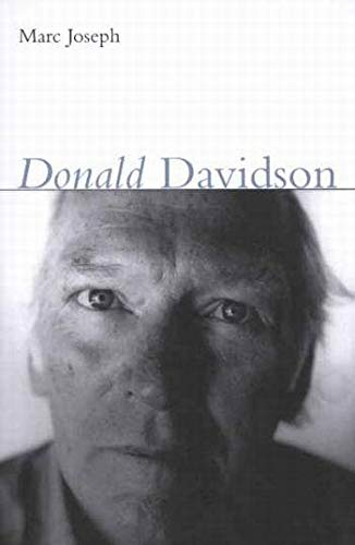 Donald Davidson -: Joseph, Marc A.