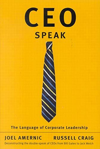 9780773530379: CEO-Speak: The Language of Corporate Leadership