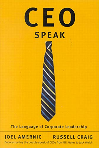 9780773533202: CEO-Speak: The Language of Corporate Leadership