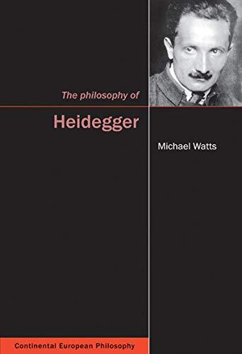 The Philosophy of Heidegger -: Watts, Michael
