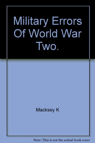 9780773751804: Military Errors of World War Two