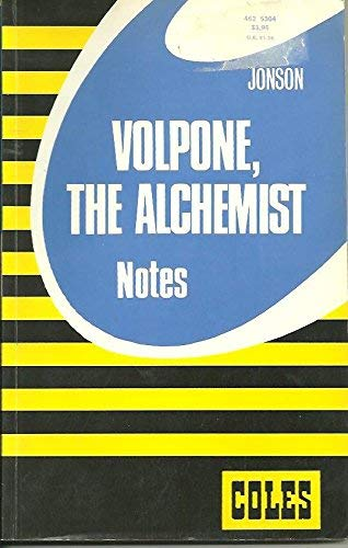 9780774030366: Jonson's Volpone and The Alchemist: Combined Notes