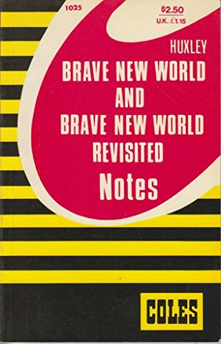 9780774032452: Brave New World and Brave New World Revisited (Coles Notes)