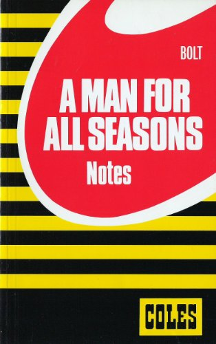 9780774033077: A Man for All Seasons (Coles Notes)