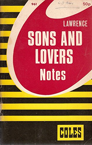 Sons and Lovers: Cole's Notes: Coles Notes Editors